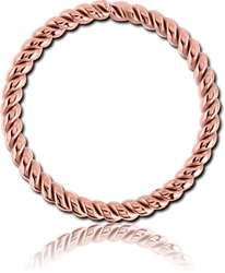 ROSE GOLD PVD COATED SURGICAL STEEL GRADE 316L SEAMLESS RING