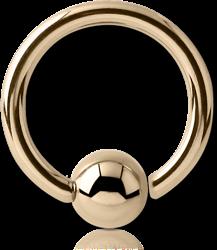 14 KARAT GOLD YELLOW FIXED BEAD RING