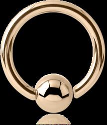 9 KARAT GOLD YELLOW FIXED BEAD RING