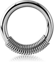 SURGICAL STEEL GRADE 316L SPRING CLOSURE RING