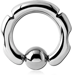 SURGICAL STEEL GRADE 316L DESIGN BALL CLOSURE RING