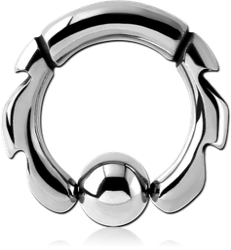 SURGICAL STEEL GRADE 316L DESIGN BALL CLOSURE RING
