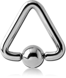 SURGICAL STEEL GRADE 316L TRIANGLE BALL CLOSURE RING