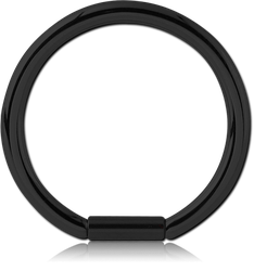 BLACK PVD COATED SURGICAL STEEL GRADE 316L BAR CLOSURE RING