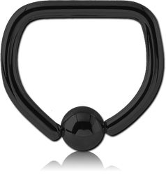 BLACK PVD COATED SURGICAL STEEL GRADE 316L BALL CLOSURE D-RING