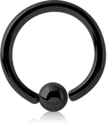 BLACK PVD COATED SURGICAL STEEL GRADE 316L FIXED BEAD RING