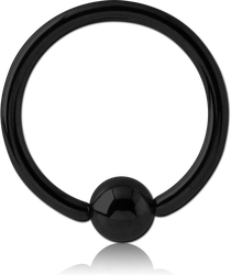 BLACK PVD COATED TITANIUM ALLOY BALL CLOSURE RING