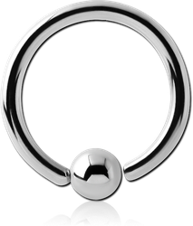 SURGICAL STEEL GRADE 316L FIXED BEAD RING