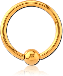 GOLD PVD COATED SURGICAL STEEL GRADE 316L BALL CLOSURE RING