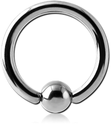 TITANIUM ALLOY BALL CLOSURE RING