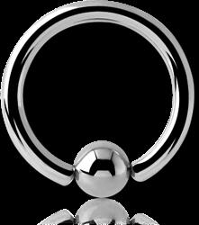 TITANIUM ALLOY ANNEALED BALL CLOSURE RING