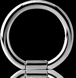 TITANIUM ALLOY BAR CLOSURE RING
