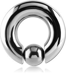 TITANIUM ALLOY BALL CLOSURE RING WITH POP OUT BALL