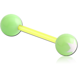 UV POLYMER FLEXIBLE BARBELL WITH PRINTED STAR BALL