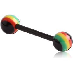 UV POLYMER FLEXIBLE BARBELL WITH RASTA BALL