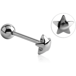 SURGICAL STEEL GRADE 316L STAR BARBELL