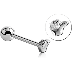 SURGICAL STEEL GRADE 316L THUMB BARBELL
