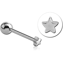 SURGICAL STEEL GRADE 316L SMALL STAR BARBELL