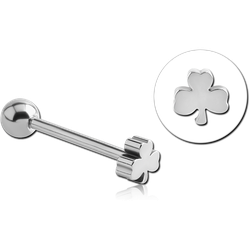SURGICAL STEEL GRADE 316L CLOVER BARBELL
