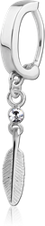 SURGICAL STEEL GRADE 316L BELLY CLICKER WITH JEWELED DANGLING CHARM