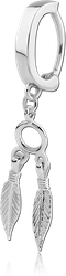SURGICAL STEEL GRADE 316L BELLY CLICKER WITH DANGLING CHARM