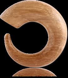 ORGANIC WOOD ROUND CLAW - TEAK ORGANIC WOOD