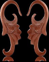 ROSEWOOD-SAWO ORGANIC CLAW EARRINGS PAIR