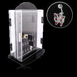DISPLAY - POLYMER TURNING BASE LOCK BOX FOR 2 X 42 CLIPS 21X29X8CM