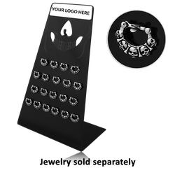 DISPLAY-BLACK POLYMER 21CLIPS FOR SEPTUMS CLICKER