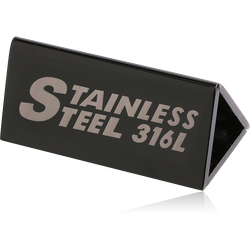 STAINLESS STEEL GRADE 304 316L ACRYLIC BRAND DISPLAY (3.5X8 CMS)
