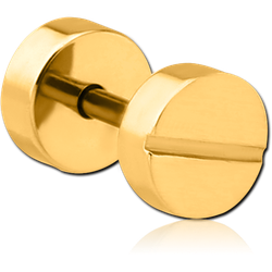 GOLD PVD COATED STAINLESS STEEL GRADE 304 FAKE PLUG