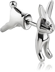SURGICAL STEEL GRADE 316L TWO-SIDED RABBIT FAKE PLUG