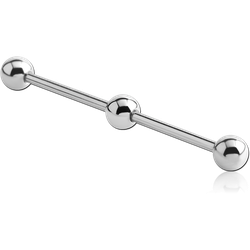 SURGICAL STEEL GRADE 316L INDUSTRIAL BARBELL