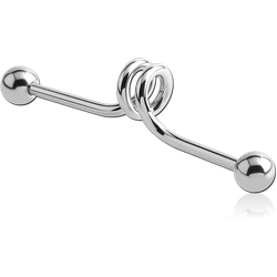 SURGICAL STEEL GRADE 316L INDUSTRIAL SPRING BARBELL