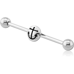 SURGICAL STEEL GRADE 316L ANCHOR INDUSTRIAL BARBELL