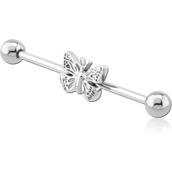 SURGICAL STEEL GRADE 316L BUTTERFLY INDUSTRIAL BARBELL