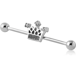 SURGICAL STEEL GRADE 316L INDUSTRIAL BARBELL - CROW