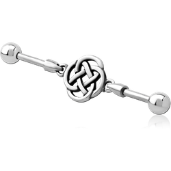 SURGICAL STEEL GRADE 316L INDUSTRIAL BARBELL CHARM - KNOT