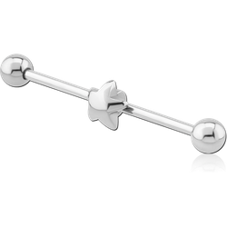SURGICAL STEEL GRADE 316L STAR INDUSTRIAL BARBELL