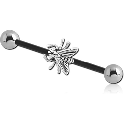 BIOFLEX® INDUSTRIAL BARBELL ADJUSTABLE SLIDING CHARM WITH STEEL BALLS
