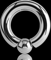 TITANIUM ALLOY INTERNALLY SCREW ON BALL CLOSURE RING