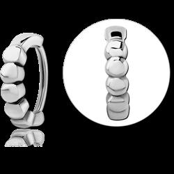 SURGICAL STEEL GRADE 316L LIP CLCKER RING