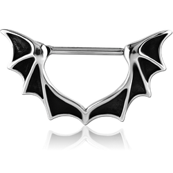 SURGICAL STEEL GRADE 316L NIPPLE CLICKER - BAT WINGS