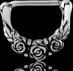 SURGICAL STEEL GRADE 316L NIPPLE CLICKER - ROSE