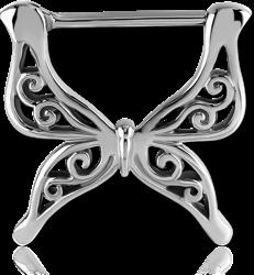 STERILE SURGICAL STEEL GRADE 316L NIPPLE CLICKER - BUTTERFLY