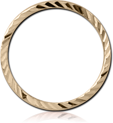 14 KARAT GOLD YELLOW SEAMLESS RING WITH DIAMOND CUTTING