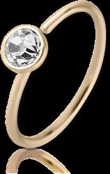 14 KARAT GOLD YELLOW SEAMLESS RING BEZEL SET