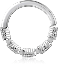 SURGICAL STEEL GRADE 316L SEAMLESS RING