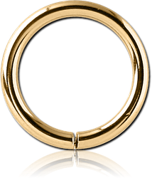 GOLD PVD 18K COATED SURGICAL STEEL GRADE 316L SEAMLESS RING