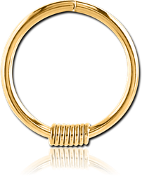 GOLD PVD COATED SURGICAL STEEL GRADE 316L SEAMLESS RING